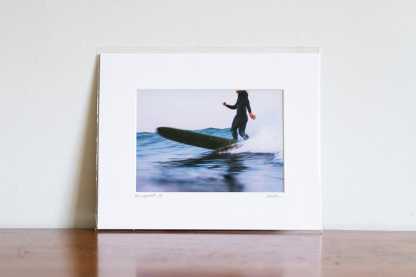 "Cate Brown Photo Claire at Dusk // Matted Mini Print 8x10"" Available Inventory Ocean Fine Art"