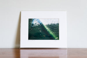 "Cate Brown Photo Surfing Jerry Aerial // Matted Mini Print 8x10"" Available Inventory Ocean Fine Art"