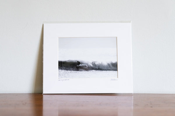 "Cate Brown Photo Boxing Day Waves // Matted Mini Print 8x10"" Available Inventory Ocean Fine Art"