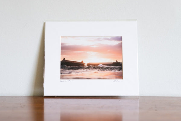 "Cate Brown Photo Cabana Sunset // Matted Mini Print 8x10"" Available Inventory Ocean Fine Art"