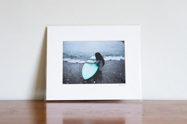 "Cate Brown Photo Moments by the Sea // Matted Mini Print 8x10"" Available Inventory Ocean Fine Art"