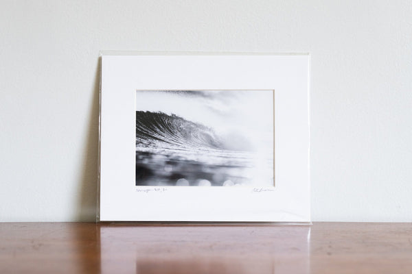 "Cate Brown Photo Silver Ocean Majesty // Matted Mini Print 8x10"" Available Inventory Ocean Fine Art"