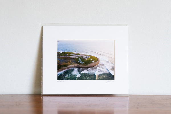 "Cate Brown Photo Point Judith Aerial #6 // Matted Mini Print 8x10"" Available Inventory Ocean Fine Art"