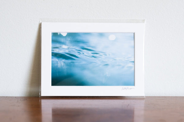 "Cate Brown Photo Weekapaug Bluescape #1 // Matted Mini Print 5x7"" Available Inventory Ocean Fine Art"
