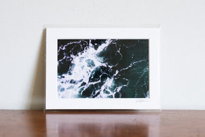 "Cate Brown Photo Dark Waters #3 // Matted Mini Print 5x7"" Available Inventory Ocean Fine Art"