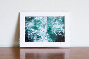 "Cate Brown Photo Dark Waters #1 // Matted Mini Print 5x7"" Available Inventory Ocean Fine Art"