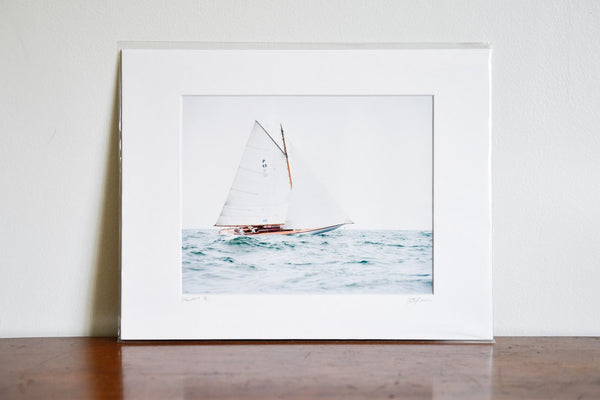 "Cate Brown Photo Sailing Open Seas // Matted Mini Print 11x14"" Available Inventory Ocean Fine Art"