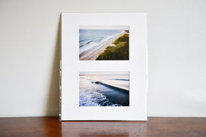 "Cate Brown Photo Aerial Diptych // Matted Mini Print 11x14"" Available Inventory Ocean Fine Art"