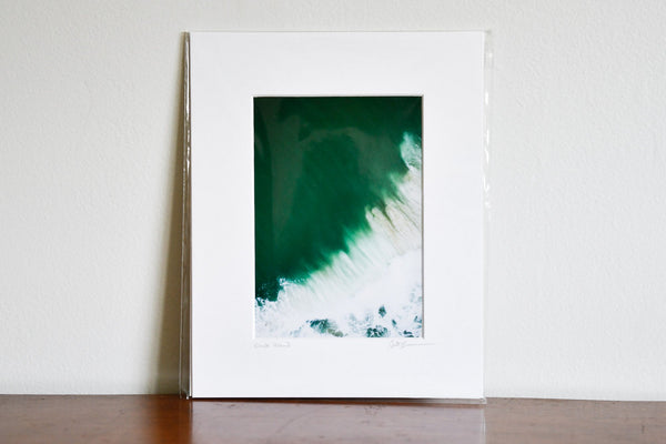 "Cate Brown Photo East Beach Aerial #17 // Matted Mini Print 8x10"" Available Inventory Ocean Fine Art"