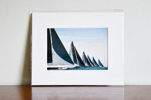 "Cate Brown Photo J Class at the Start // Matted Mini Print 8x10"" Available Inventory Ocean Fine Art"