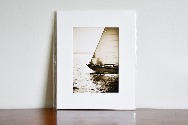 "Cate Brown Photo King Haakon Bow Sepia // Matted Mini Print 8x10"" Available Inventory Ocean Fine Art"