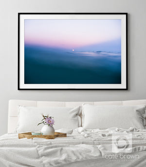 Moonrise from the Water  //  Ocean Photography