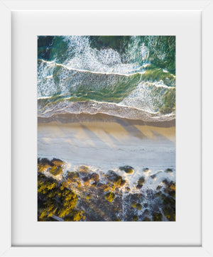 Cate Brown Photo Narragansett #1  //  Aerial Photography Made to Order Ocean Fine Art