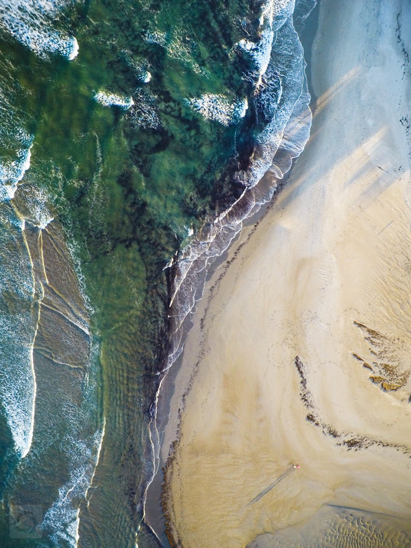 Cate Brown Photo Narragansett #2  //  Aerial Photography Made to Order Ocean Fine Art