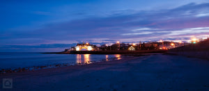 Cate Brown Photo Narragansett Towers at Dusk  //  Landscape Photography Made to Order Ocean Fine Art