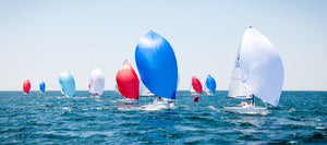 Newport Regatta Spinnakers  //  Nautical Photography