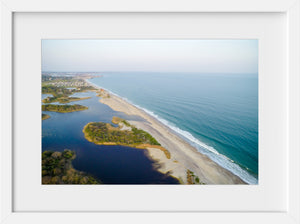 Cate Brown Photo Ocean View from Moonstone #1  //  Aerial Photography Made to Order Ocean Fine Art
