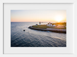 Cate Brown Photo Point Judith at Sunset #3  //  Aerial Photography Made to Order Ocean Fine Art