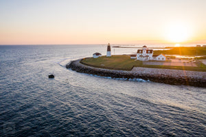Point Judith at Sunset #3  //  Aerial Photography