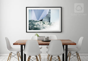 Cate Brown Photo Silver Spinnaker  //  Nautical Photography Made to Order Ocean Fine Art