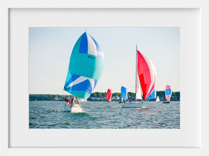 Cate Brown Photo Spinnakers at Wednesday Night  //  Nautical Photography Made to Order Ocean Fine Art