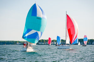 Spinnakers at Wednesday Night  //  Nautical Photography