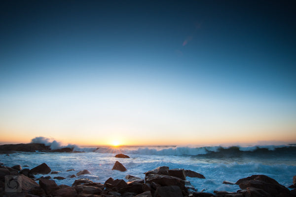 Cate Brown Photo Sunrise Over Hazard Rock  //  Seascape Photography Made to Order Ocean Fine Art