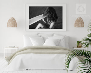 Cate Brown Photo Beach Hair  //  Surf Photography Made to Order Ocean Fine Art