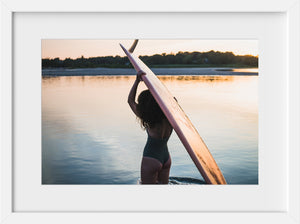 Cate Brown Photo Femme Sunset  //  Surf Photography Made to Order Ocean Fine Art