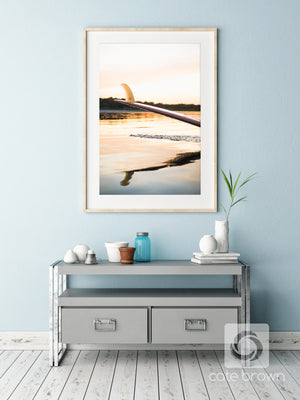 Cate Brown Photo Fin Gold  //  Surf Photography Made to Order Ocean Fine Art