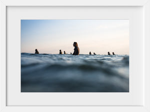 Sunset Lineup for Chris #1 //  Surf Photography