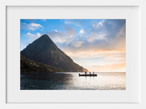 Cate Brown Photo Sunset by the Pitons  //  Landscape Photography Made to Order Ocean Fine Art