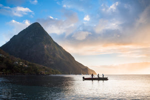 Sunset by the Pitons  //  Landscape Photography