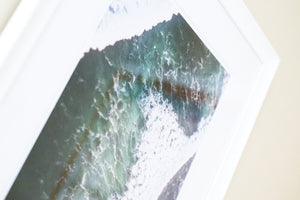 "Cate Brown Photo Surfing Jose Aerial // Framed Fine Art 20x26"" // Open Edition Available Inventory Ocean Fine Art"