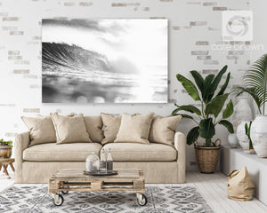 "Cate Brown Photo Canvas / 16""x24"" / None (Print Only) Silver Ocean Majesty  //  Ocean Photography Made to Order Ocean Fine Art"