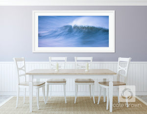 "Cate Brown Photo Fine Art Print / 12""x27"" / White Twilight in Motion // Seascape Photography Made to Order Ocean Fine Art"