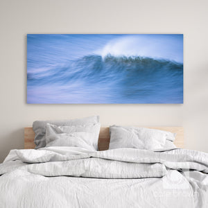 "Cate Brown Photo Canvas / 12""x27"" / None (Print Only) Twilight in Motion // Seascape Photography Made to Order Ocean Fine Art"
