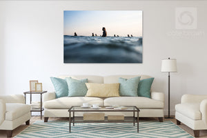 Cate Brown Photo Sunset Lineup for Chris #1 //  Surf Photography Made to Order Ocean Fine Art