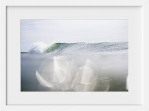 Cate Brown Photo Summer Waves in Green  //  Ocean Photography Made to Order Ocean Fine Art
