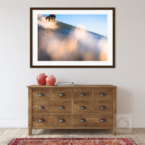 Cate Brown Photo Sunset Drops for Florence //  Surf Photography Made to Order Ocean Fine Art