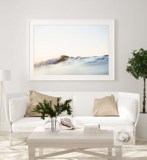 "Cate Brown Photo Fine Art Print / 12""x18"" / White Summer Ripples  //  Ocean Photography Made to Order Ocean Fine Art"