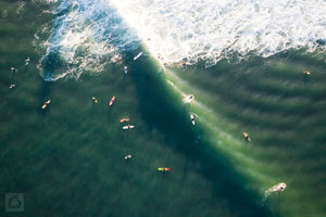 Cate Brown Photo Surfing Jerry  //  Aerial Photography Made to Order Ocean Fine Art