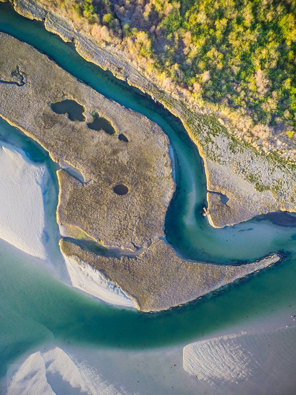 Cate Brown Photo The Narrows #1  //  Aerial Photography Made to Order Ocean Fine Art