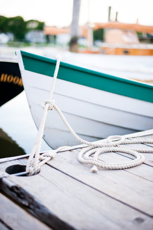 Tied Up Bow  //  Nautical Photography