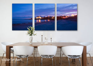 "Cate Brown Photo Canvas Panels / 40""x90"" / None (Print Only) Narragansett Towers at Dusk  //  Landscape Photography Made to Order Ocean Fine Art"