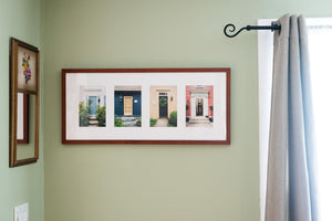 "Cate Brown Photo Wickford Doors in Summer #1 // Framed Fine Art Collage 13x30"" // Open Edition Available Inventory Ocean Fine Art"