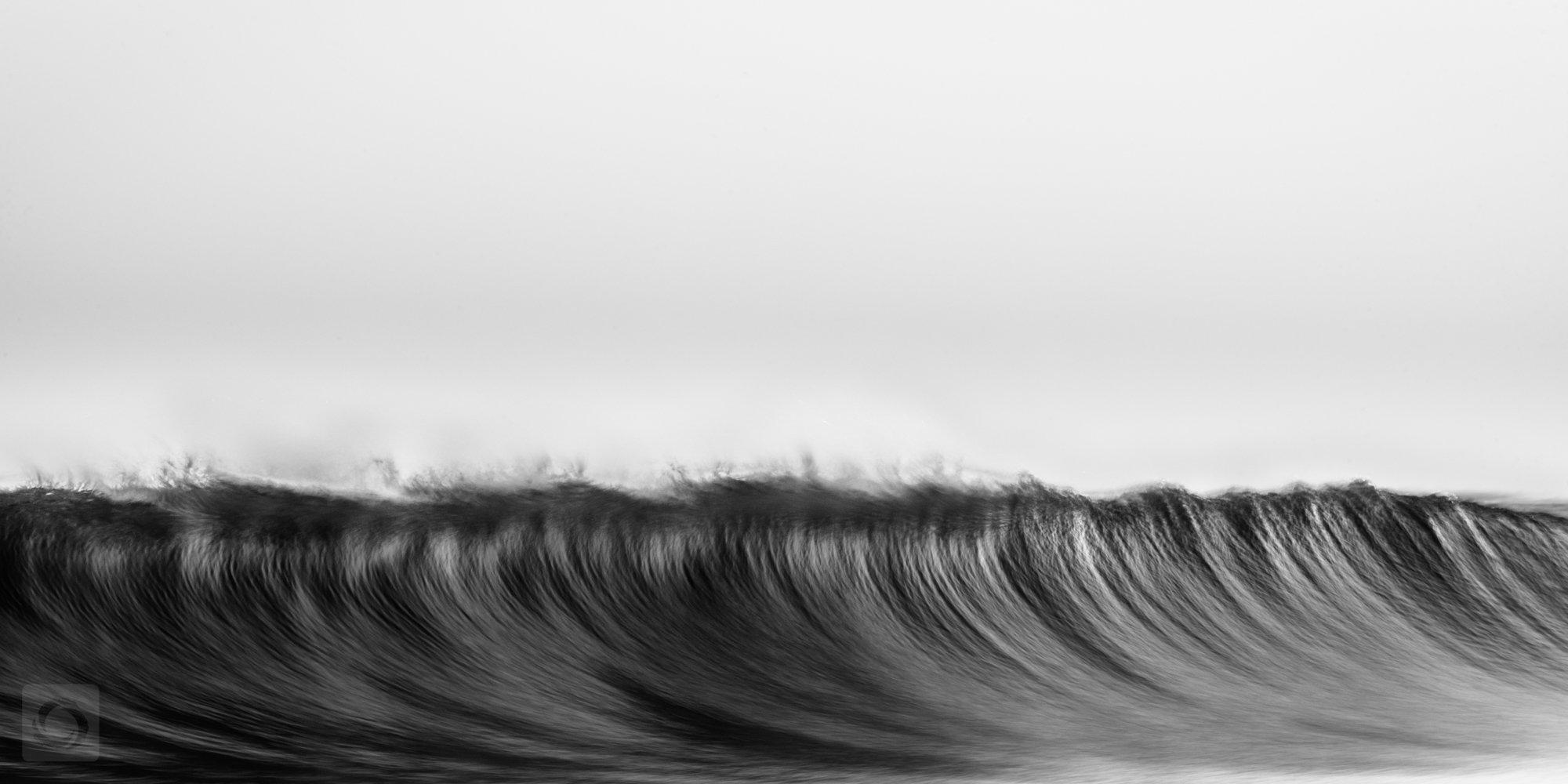 Waves of silver ocean photography