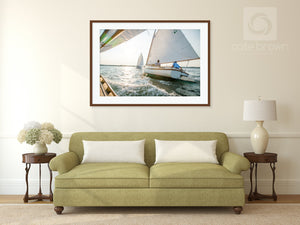 Cate Brown Photo Peregrine in Summer Light  //  Nautical Photography Made to Order Ocean Fine Art
