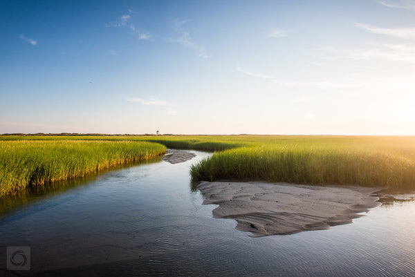 Cate Brown Photo Wood End Light Across the Marsh  //  Landscape Photography Made to Order Ocean Fine Art