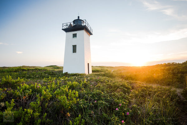 Cate Brown Photo Wood End Light at Sunset #1  //  Landscape Photography Made to Order Ocean Fine Art